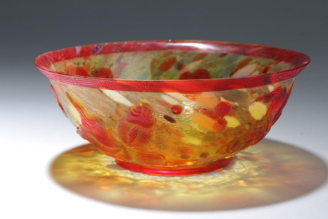 Chinese Glass Bowl - 2