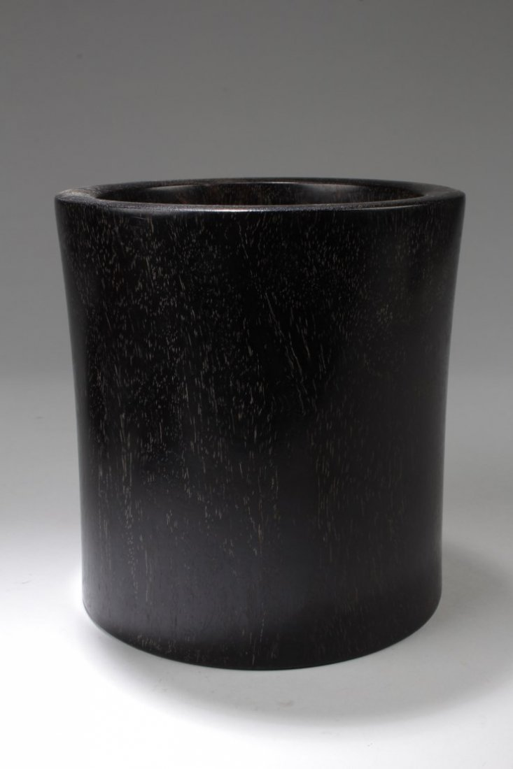 Chinese Hardwood Brushpot