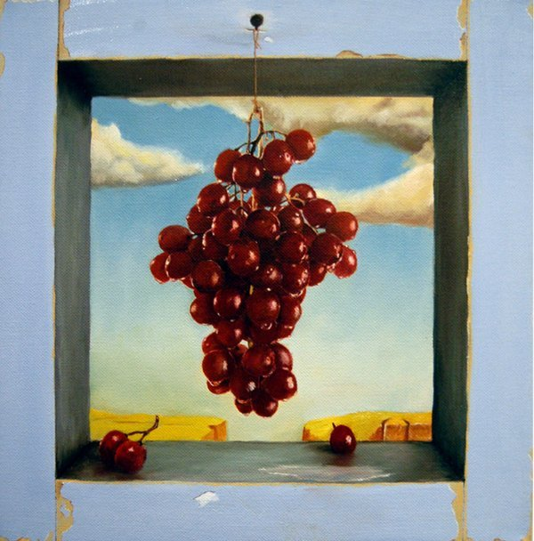 18: LazaR, 61 Grapes, Oil On Canvas, 12 x 12