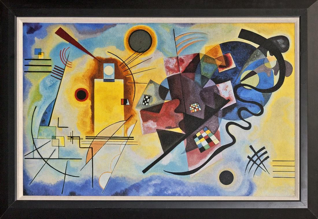 After Kandinsky on canvas Red Blue and Yellow