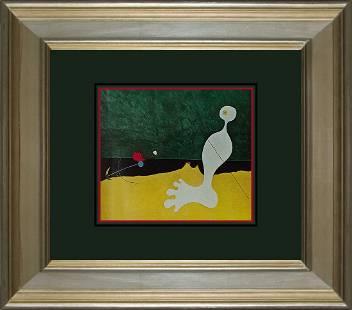 Joan Miro Color Plate Lithograph 1968