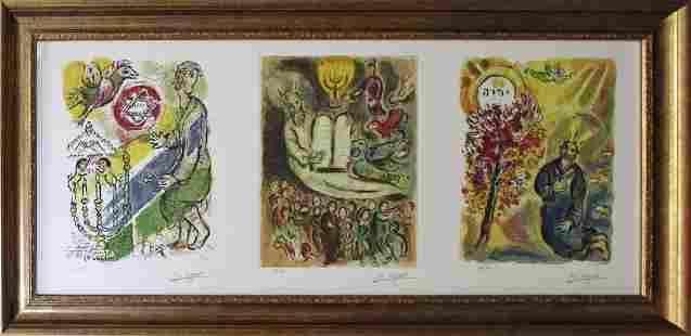 Marc Chagall Exodus Triptych Lithograph