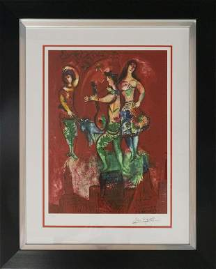Marc Chagall Carmen Limited Edition on paper