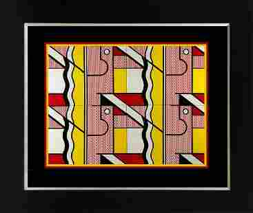 Roy Lichtenstein color Plate Lithograph