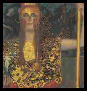 After Gustav Klimt Palais Athene 32 x 32 image on