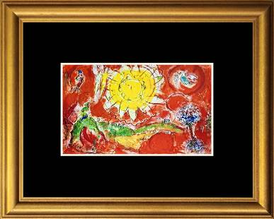 Marc Chagall Hand signed Lithograph Mourlot Press from