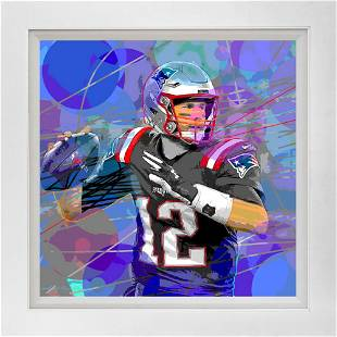 Superbowl Hand embellished Limited Edition on canvas by