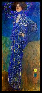After Gustav Klimt on canvas approx 6 ' tall Limited
