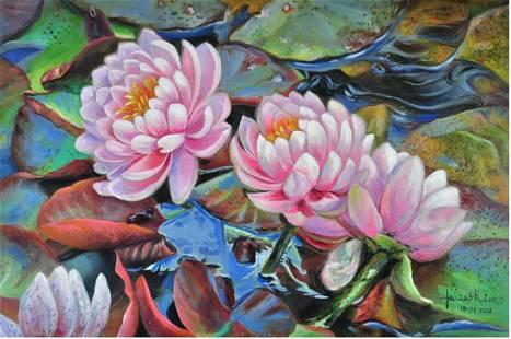 Julia Kim original oil on canvas