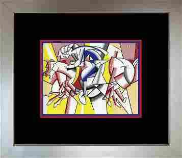 Roy Lichtenstein 1996 Horses Lithograph