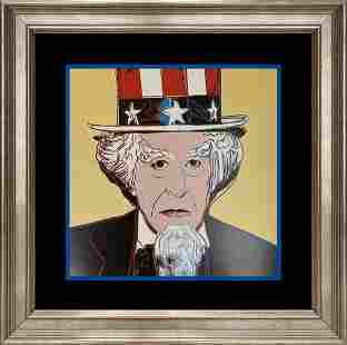 Andy Warhol AP Original Silkscreen Serigraph Uncle Sam