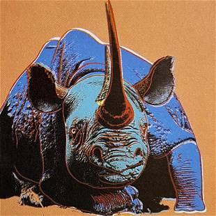 Black Rhinoceros Andy Warhol Original Silkscreen