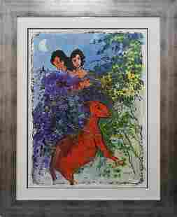 Original on Arches paper in the manner of Marc Chagall