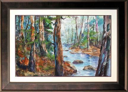 Original Watercolor by Michael Schofield landscape