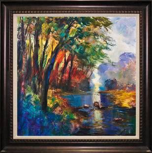 Michael Schofield Original on canvas 30 x 30 image