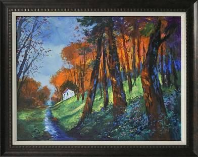 Original canvas Landscape by Michael Schofield
