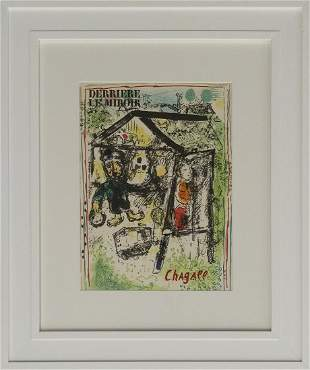 Marc Chagall Lithograph from 1972