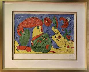 Joan Miro Original Lithograph HC Hand signed and