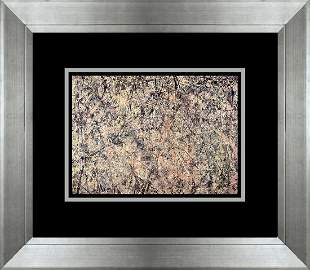 Jackson Pollock color plate lithograph Number One