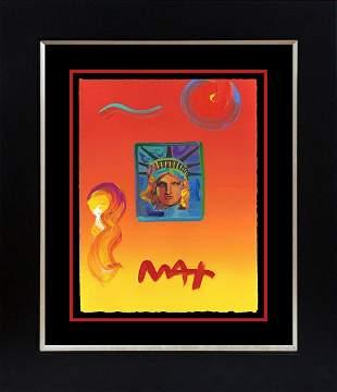 Peter Max Mixed Media Original