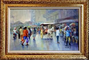 Original oil by Rafael
