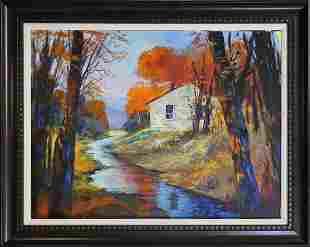Original Landscape on canvas Michael Schofield