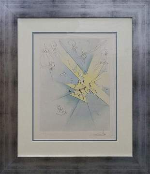 Salvador Dali Limited Edition Original Lithograph Hand