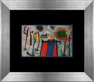 Joan Miro Color Plate Lithograph over 50 years ago
