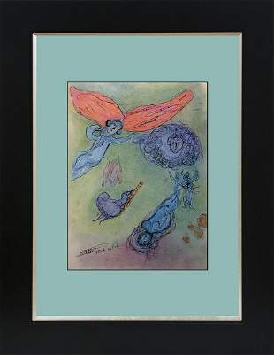 Marc Chagall Lithograph from 1968