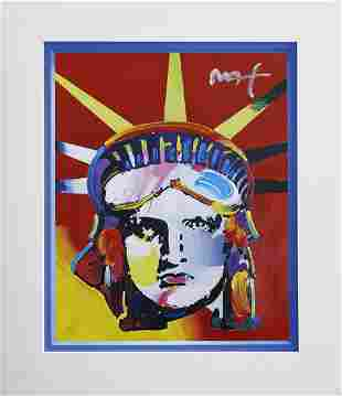 Peter Max Mixed media acrylic paint on paper Freedom