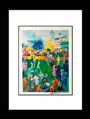 LeRoy Neiman Hand Signed Lithograph Derby Day Paddock