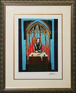 Salvador Dali lithograph limited edition Inferno 1978