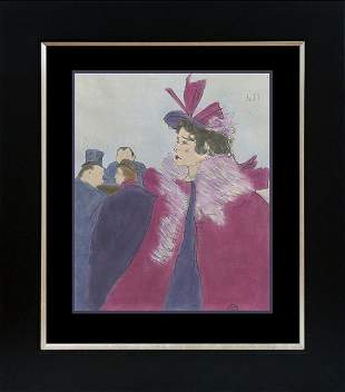 Toulouse Lautrec Hand colored Lithograph