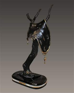 Tearful Soft Watch Bronze Sculpture after Salvador Dali