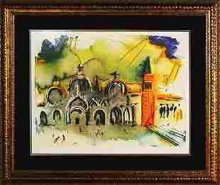 Salvador Dali Limited Edition Lithograph Venice
