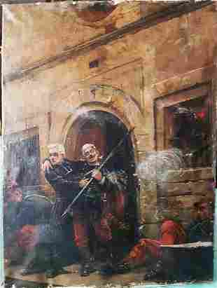 Jules Delaunay Original Oil on canvas