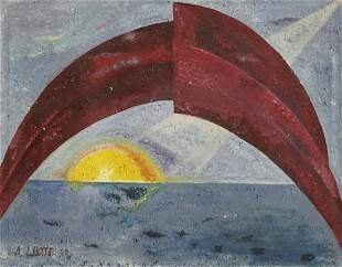 Andre Lholte (French) Original oil on canvas from 1959