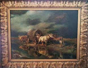 Fernando Fader Original Oil on canvas from 1906