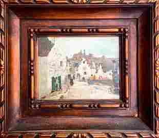 George Oberteuffer Original oil on wood