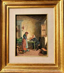 """Ancient painting """"The Doctor"""" """"by Giovanni Maria Borri"""