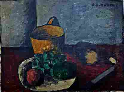 Old Painting Still life signed Giovanetti oil painting