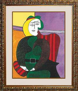 Picasso Limited Edition Woman in the Red Arm Chair
