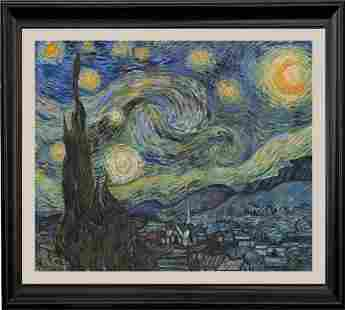 After Vincent Van Gogh-Limited Edition on canvas Starry