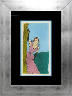 Toulouse Lautrec Hand Coloured Lithograph over 60 years