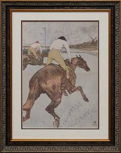 Toulouse Lautrec Lithograph from 1970