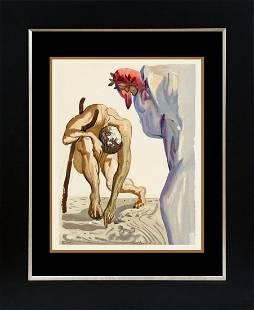 Salvador Dali Divine Comedy Suit Original Wood Block