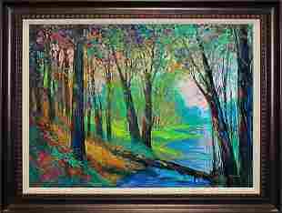 Original on canvas Michael Schofield landscape