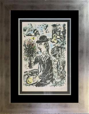Marc Chagall Original Lithograph Limited Edition hand