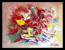 Zinovy Shersher original acrylic on canvas Abstract