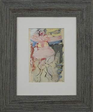 Willem de Kooning Lithograph from 1972